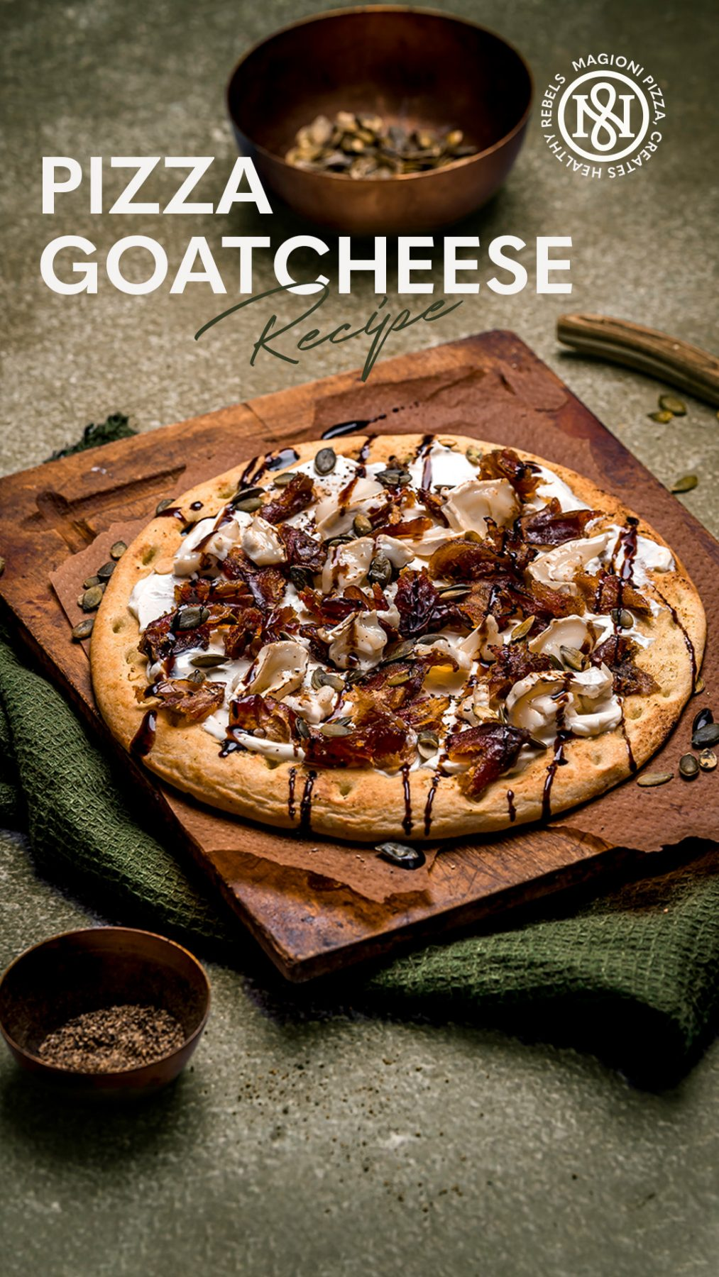 pizza goatcheese